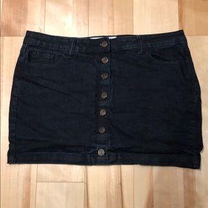 Dark Jean Mini Skirt